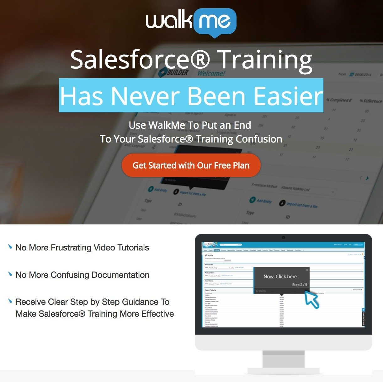 This picture shows marketers how WalkMe uses a YouTube landing page to generate traffic and sales from online video watchers.