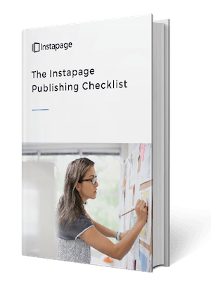 This picture shows marketers the Instapage 25-point landing page checklist that teaches how to create the strongest page possible.