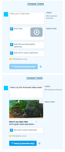 This picture shows marketers how to compose a Tweet using Twitter video ads to generate maximum engagement.
