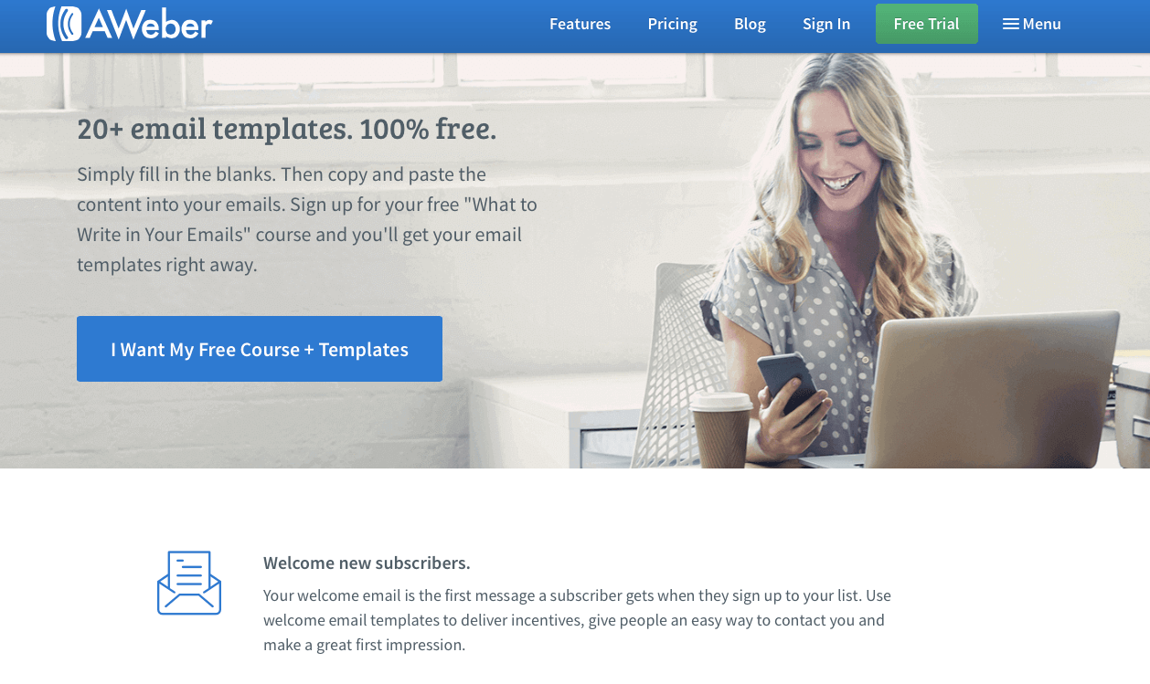 How AWeber Landing Pages Help Them Gain More Subscribers