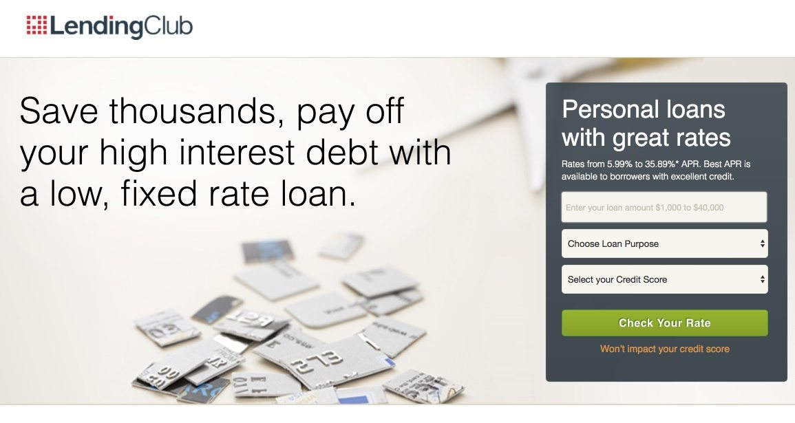 This picture shows marketers how Lending Club uses an Instagram landing page to promote their personal loans service.