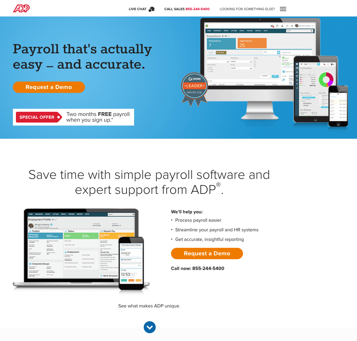 how to create accounting landing pages that aren t taxing to look at accounting landing page adp