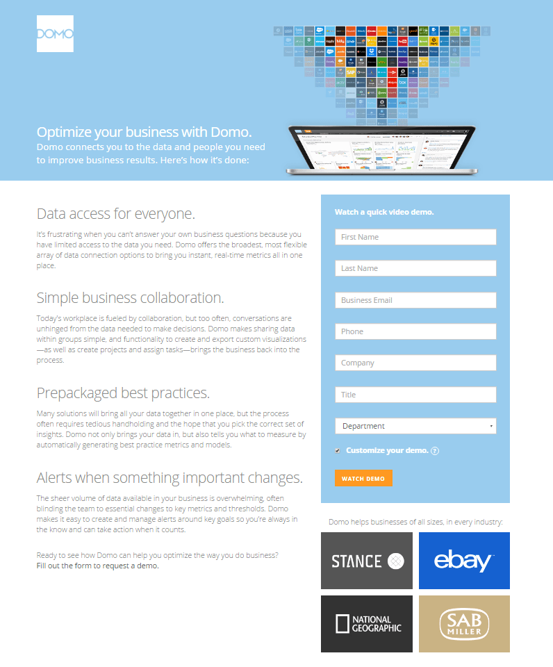 The Best Landing Page Examples You Cant Afford To Miss In - Sample landing page template