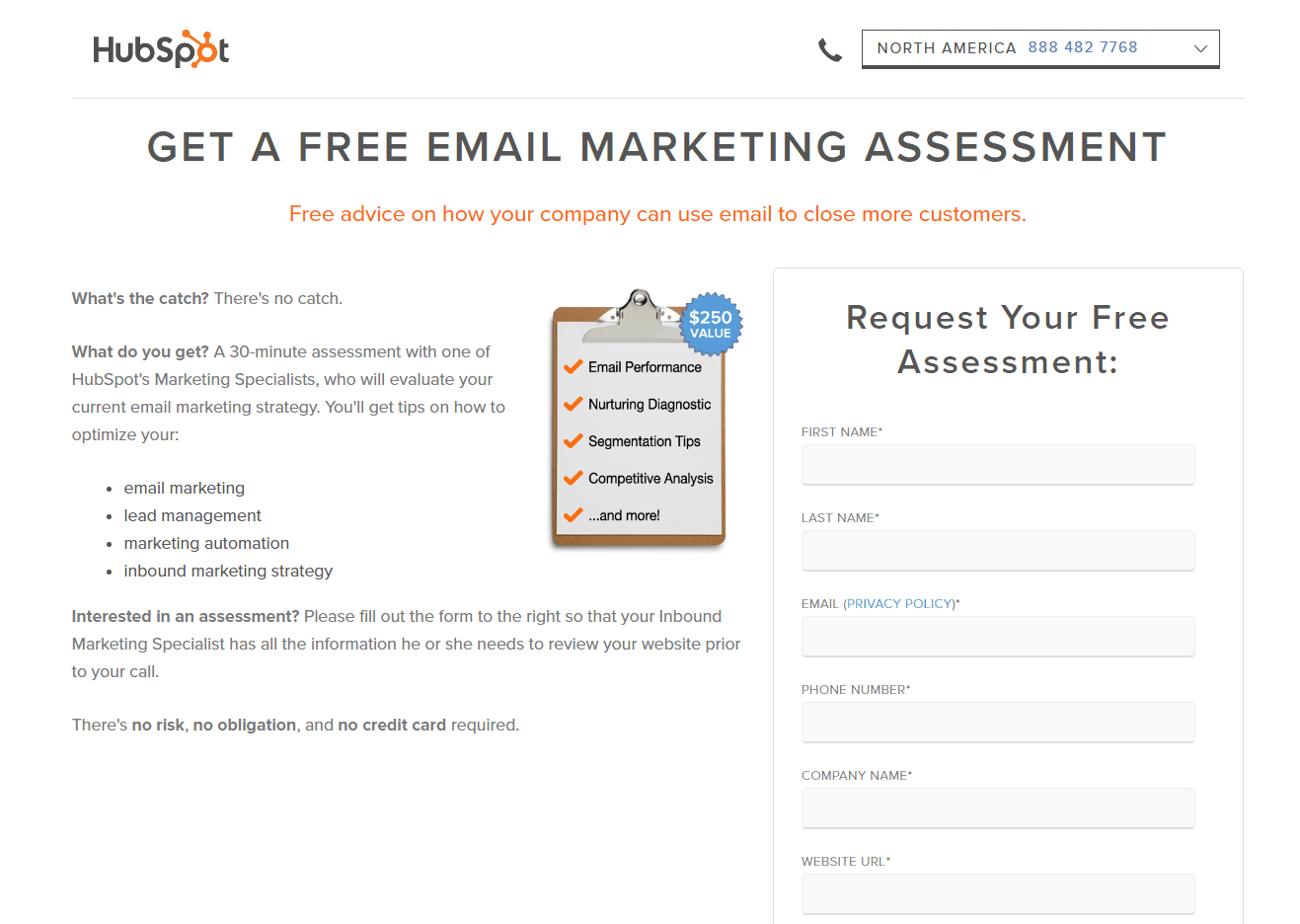 awesome nursing home marketing plan. HubSpot Email Assessment Landing Page Example 100 Examples You Can t Afford To Miss In 2018