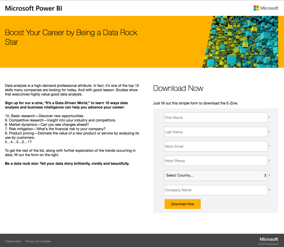 The 100 best landing page examples you cant afford to miss in 2018 35 microsoft power bi fandeluxe Image collections