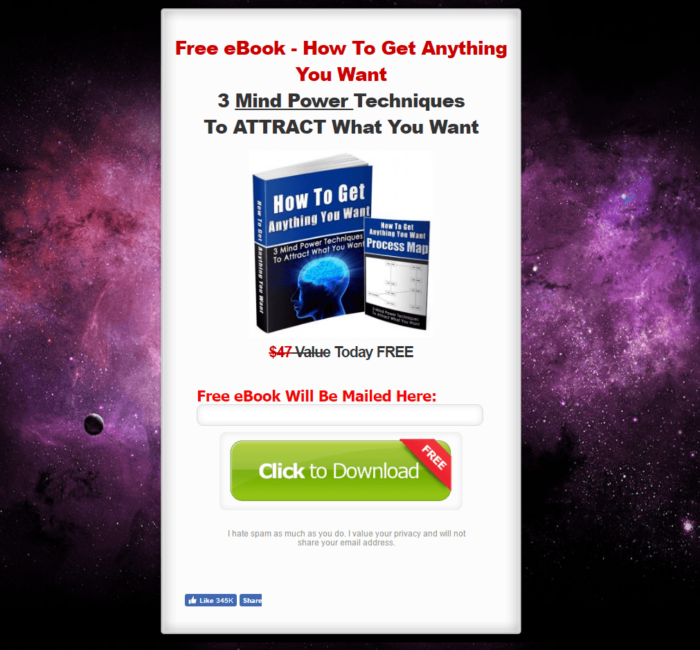 of the best landing page examples critiqued the law of attraction world landing page example