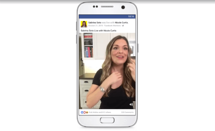This picture shows marketers how Facebook users can watch videos in vertical format with the newest update.