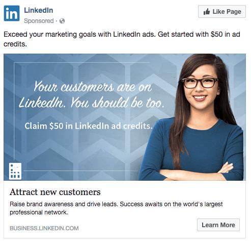 cross-channel marketing LinkedIn ad