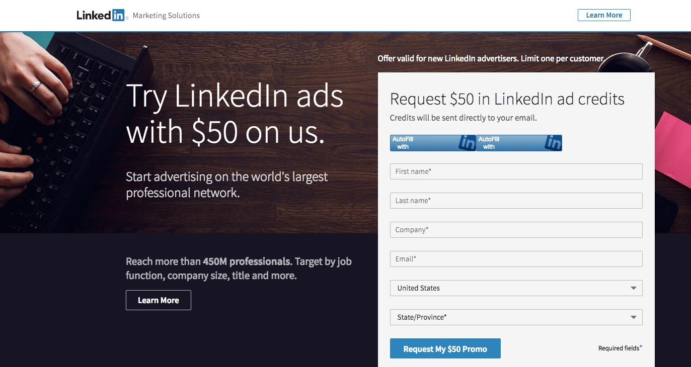 cross-channel marketing LinkedIn landing page