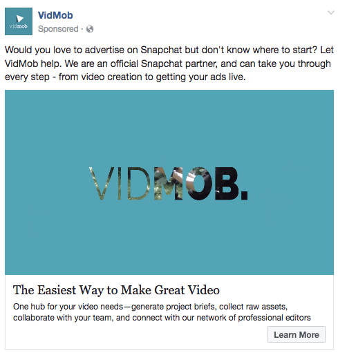 cross-channel marketing VidMob ad