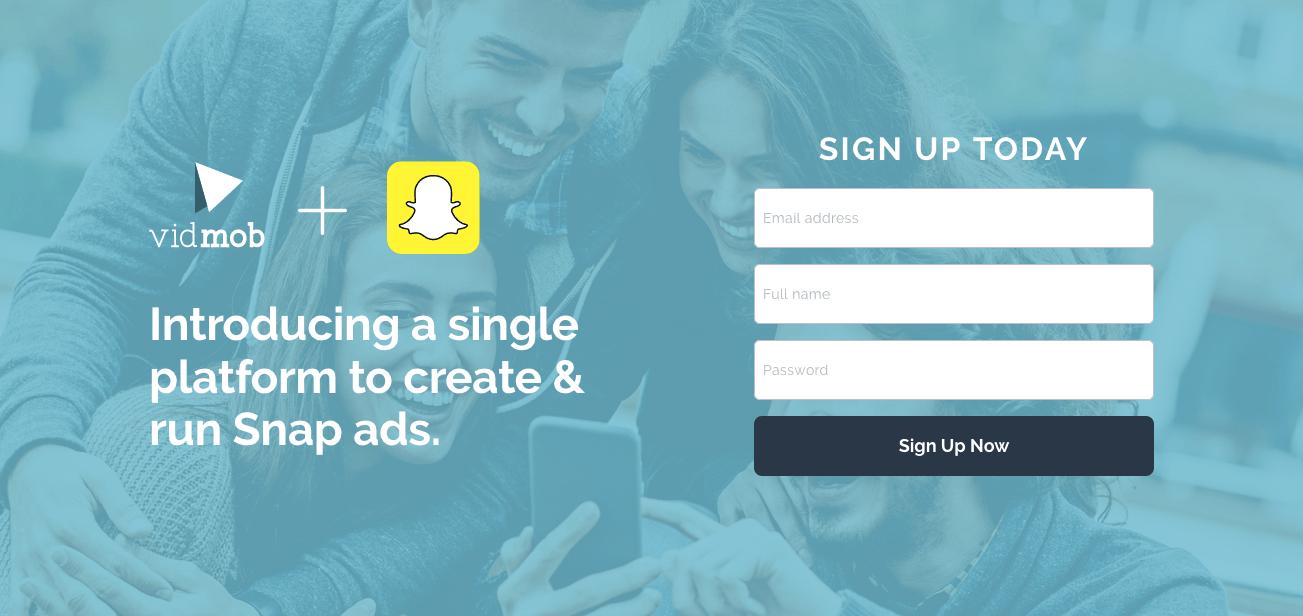 cross-channel marketing VidMob landing page