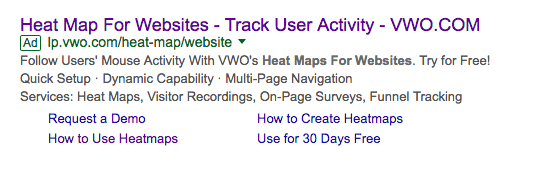 VWO Search Ad Copy
