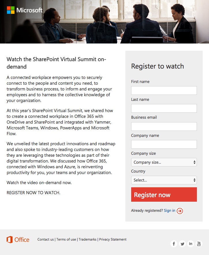 5 SharePoint Landing Page Examples to Influence Your Next Page Design