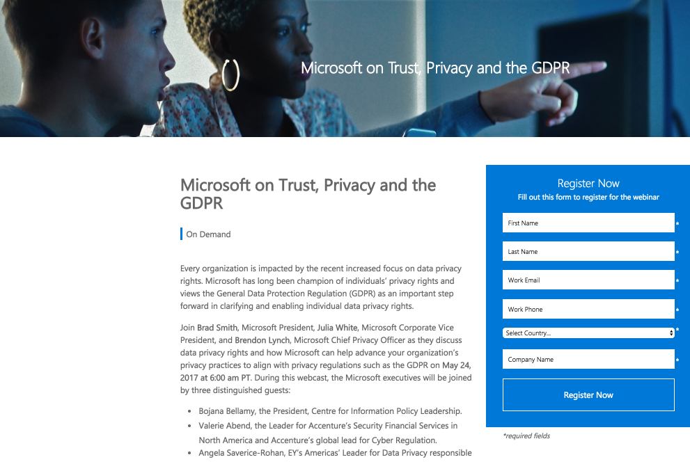 5 sharepoint landing page examples to influence your next page design sharepoint landing page webinar privacy pronofoot35fo Choice Image