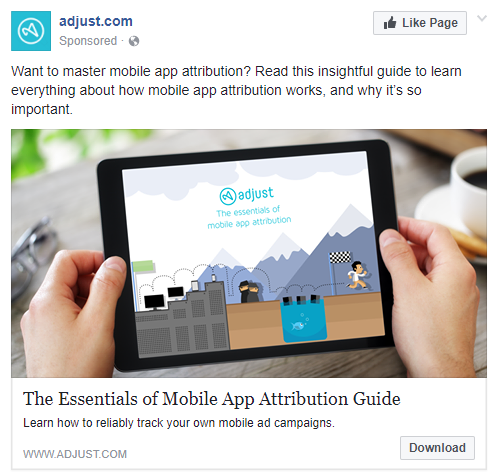 best facebook ads Adjust