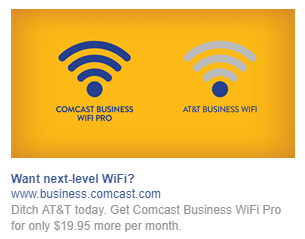 best facebook ads Comcast