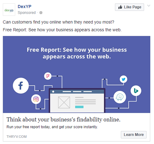 best facebook ads DexYP