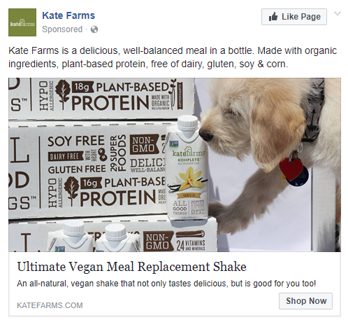 best facebook ads Kate Farms
