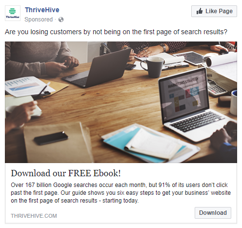 best facebook ads ThriveHive