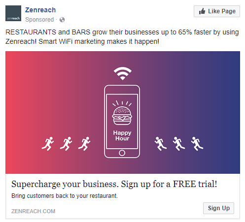 best facebook ads Zenreach