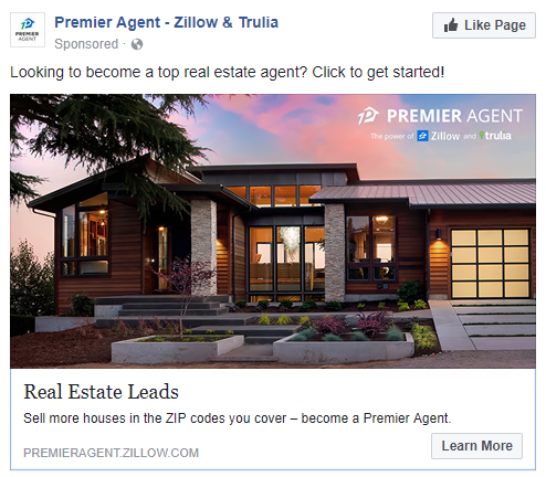 best facebook ads Zillow