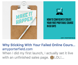 Facebook sponsored ads amy2