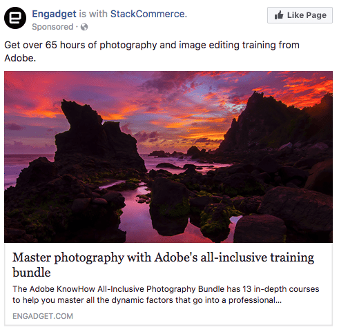 Facebook sponsored ads engadget
