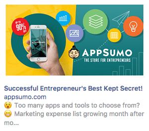 retargeting ad AppSumo
