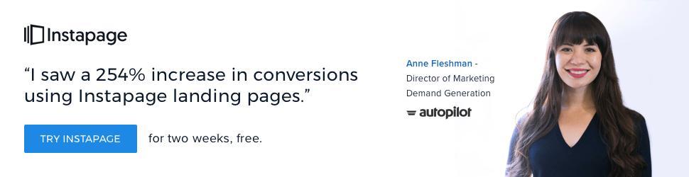 ad copywriting - instapage ad