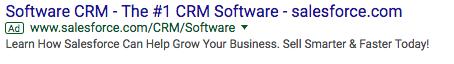 ad copywriting -salesforce ad