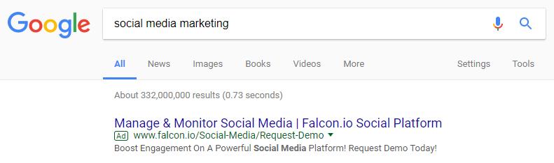 Bing Ads vs. Google AdWords social media marketing
