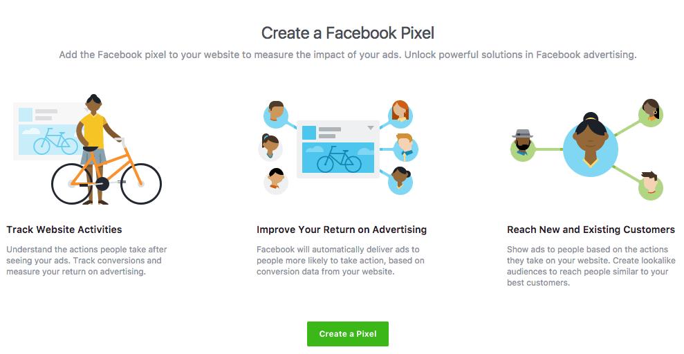 Facebook retargeting pixel create