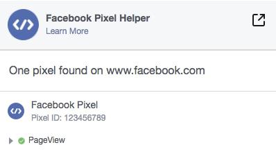 Facebook retargeting pixel helper