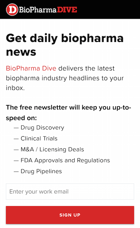 mobile landing page report pharmaceuticals phone