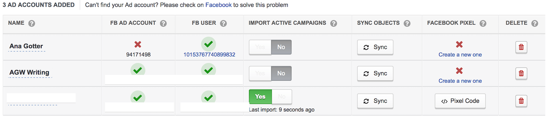 AdEspresso import campaign
