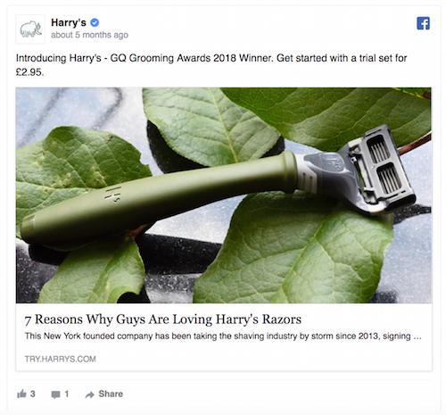 ad copy Harry's Razors