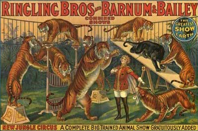 evolution of advertising Ringling Brothers billboard